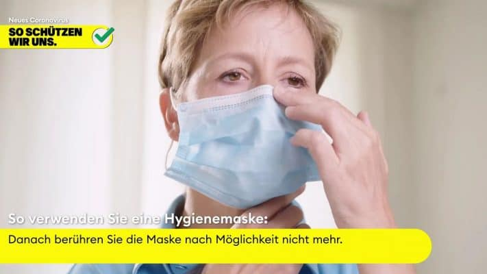 Hygienemaske Video